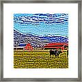 Cows Pasture Barns Superspecialeffect Framed Print