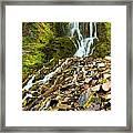 Crater Lake Waterfall Framed Print