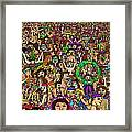 Crowded Swimming Pool Framed Print