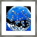 Crystal Drops From A Global View Framed Print