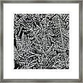 Crystals 8 Framed Print