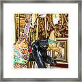 Curious Carousel Beasts Framed Print