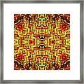 Cyberbraid Mandala Framed Print