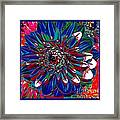 Dahlia With Intense Primaries Effect Framed Print