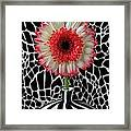 Daisy And Graphic Vase Framed Print