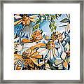 Daisy Carnival Framed Print