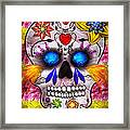 Day Of The Dead - Death Mask Framed Print