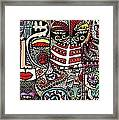 Day Of The Dead Cats Framed Print