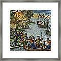 De Bry: Chicora, 1590 Framed Print