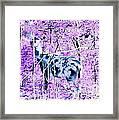 Deer In The Woods Inverted Negative Image Framed Print
