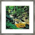 Distant Ozone Falls And Rapids - Summer Framed Print