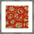 Dots And Rings Framed Print