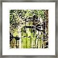 Downstream Reflections Framed Print