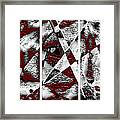 Dramatique Red Triptych Framed Print