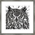Eagle Owl Framed Print by Julia Forsyth