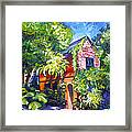 East Bay House In Charleston  Framed Print