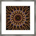 Electric Mandala 3 Framed Print