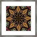 Electric Mandala 7 Framed Print