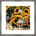 European Markets - Sunflowers And Roses Framed Print