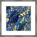 Exquisitely Blue Framed Print