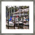 Fairhope Yacht Club Sailboat Masts Framed Print