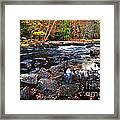 Fall Forest And River Landscape Framed Print