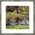 Fall Frogging Got One Framed Print