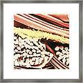 False-colour Sem Of The Fabric Gore-tex Framed Print