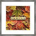 Family-autumn Inpsireme Framed Print