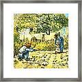 Farm Scene Framed Print