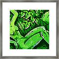 Female On A Mardi Gras Float Painted Framed Print