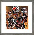 Fierce Androids Riot The City Of Tokyo Framed Print