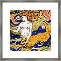 Fiery Mermaid Framed Print
