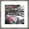 Fifties Drive In Framed Print