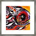 Fire Fish Four And A Half Framed Print