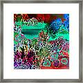 Fire Storm Abstract Framed Print