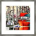 Fishing Boat In Harbor Framed Print