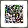 Fishing Docks Hdr Framed Print