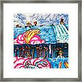 Floating Thru Mardi Gras Framed Print by Steve Harrington