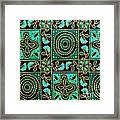 Floral Fabric Pattern Framed Print