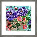 Floral Frenzy Framed Print