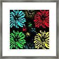Floral Pop Art Framed Print