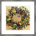 Floral Wreath Framed Print