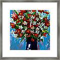 Flower Arrangement Bouquet Framed Print by Patricia Awapara