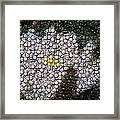 Flower Bottle Cap Mosaic Framed Print by Paul Van Scott