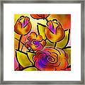 Flower Burst Framed Print by Melisa Meyers