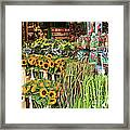 Flower Shop In Amsterdam Framed Print