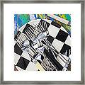 Forks On Checker Plate Framed Print