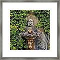 Fountain In The Walled Garden, Florence Framed Print