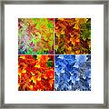 Four Seasons In Abstract Framed Print